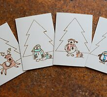 Christmas Cards: Pyrography On Paper by NoniRae