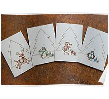 Christmas Cards: Pyrography On Paper Poster
