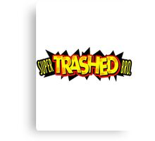"""Super Trashed Bro"" Super Smash Bros. Parody Spoof N64 Canvas Print"
