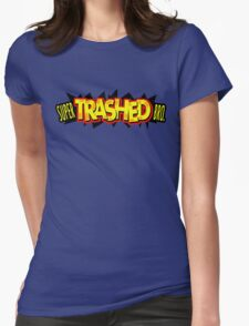 """Super Trashed Bro"" Super Smash Bros. Parody Spoof N64 Womens Fitted T-Shirt"