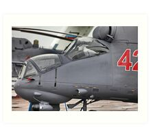 attack helicopter Art Print