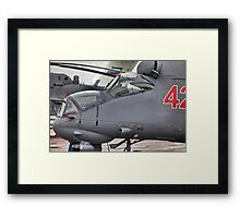 attack helicopter Framed Print