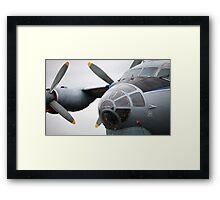 Military transport aircraft AN12 Framed Print