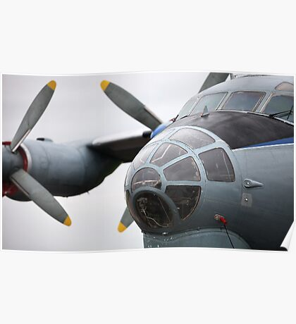 Military transport aircraft AN12 Poster