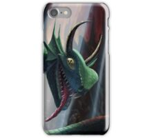 knight in battle with giant serpent iPhone Case/Skin