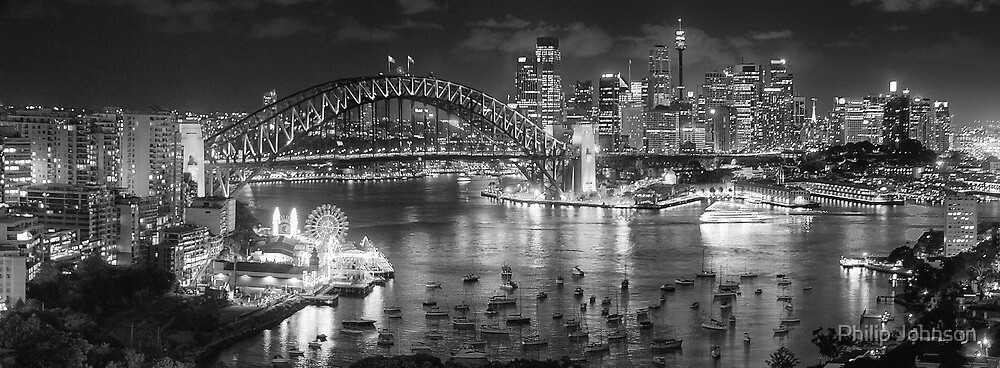 Lights, Camera Action - Sydney In Black & White - The HDR Experience by Philip Johnson