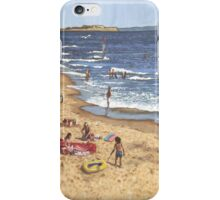 people on Bournemouth beach Blue Sea iPhone Case/Skin
