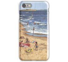 people on Bournemouth beach Blue Sea iPhone Case/Skin