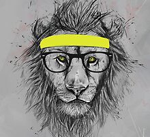 hipster lion by soltib