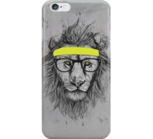 hipster lion iPhone Case/Skin