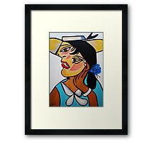 PICASSO BY NORA  YELLOW HAT Framed Print