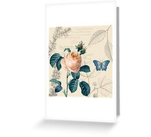 Peach Rose Vintage Greeting Card