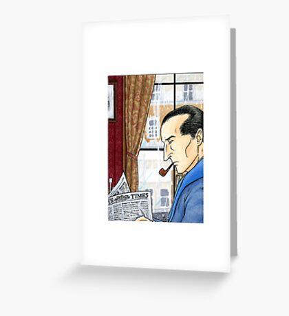 Sherlock Reading Greeting Card