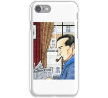 Sherlock Reading iPhone Case/Skin
