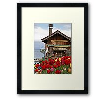 Colors of Yvoire - La Pointe Restaurant Framed Print