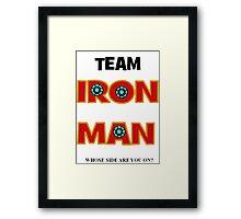 Civil War - Team Iron Man Framed Print