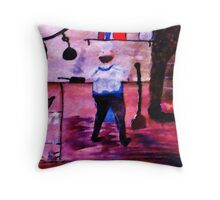 The Chef, my version of a Pissaro,, watercolor Throw Pillow