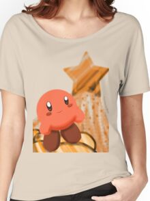 Orange Kirby  Women's Relaxed Fit T-Shirt