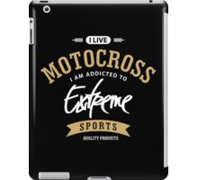 I Live Motocross White and Brown Extreme Sports iPad Case/Skin