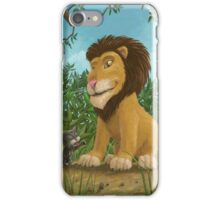 big lion small cat iPhone Case/Skin
