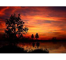 Abend am See - Evening by the Lake Photographic Print