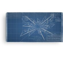 Blueprint - The discovery of Time-Travel Canvas Print