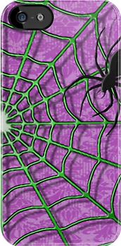 Creepy Crawler and the Wonderful Web-iPhone Case by Carlos Phillips