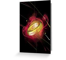 the ring of power Greeting Card