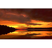 Sunset at Ferrycarrig, County Wexford, Ireland Photographic Print