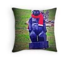 Ho Ho Growl Throw Pillow