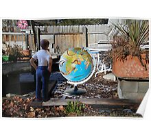 After leaving his earth sculpture in the garden overnight, Wes finds undisputed evidence of global worming. Poster