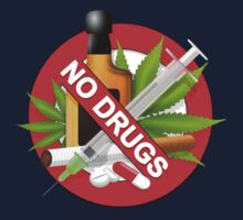 no drugs Kids Tee