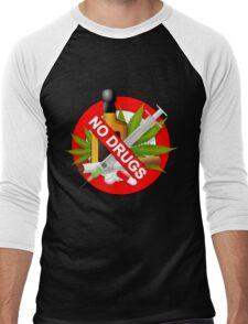 no drugs Men's Baseball ¾ T-Shirt