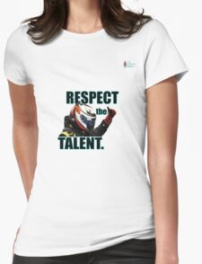 KR - Respect The Talent - Black Womens Fitted T-Shirt