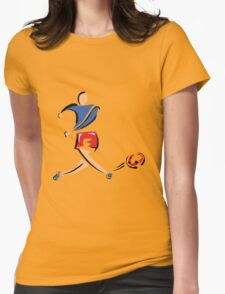 Soccer Chick Womens Fitted T-Shirt
