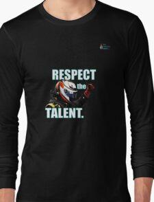 KR - Respect The Talent - White Long Sleeve T-Shirt