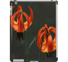 Orange lilies by the river iPad Case/Skin