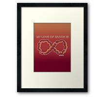 Baconfinity Framed Print