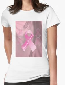 Breast Cancer Survivor T-Shirt Womens Fitted T-Shirt