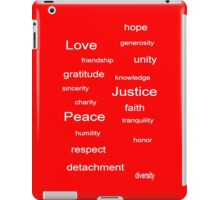 Love Peace Justice - Red iPad Case/Skin