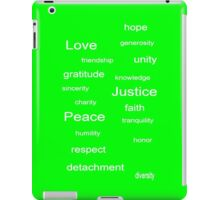 Love Peace Justice - Lime iPad Case/Skin