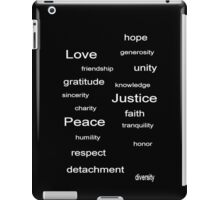 Love Peace Justice - Black iPad Case/Skin