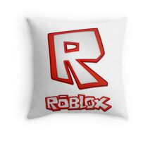 Roblox R Logo Throw Pillow