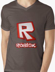 Roblox R Logo Mens V-Neck T-Shirt