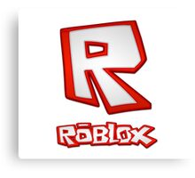 Roblox R Logo Canvas Print
