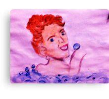 Love bubbles in my bath, watercolor Canvas Print