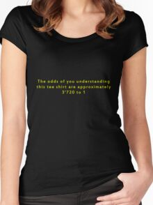 The Odds Are 3720 to 1; Yellow Women's Fitted Scoop T-Shirt