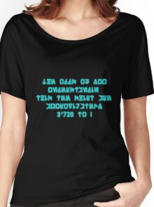 The Odds Are 3720 to 1, in Aurebesh Women's Relaxed Fit T-Shirt