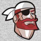 Redbeard the Pirate: Portrait of a Scallywag In A Bandana by JoesGiantRobots