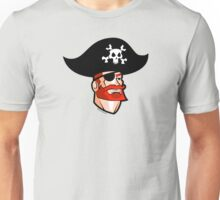 Redbeard the Pirate: Shiver Me Pirate Hat Unisex T-Shirt